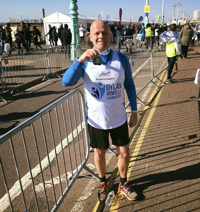 Well done Andy on completing the Brighton Half Marathon today, the second of you…