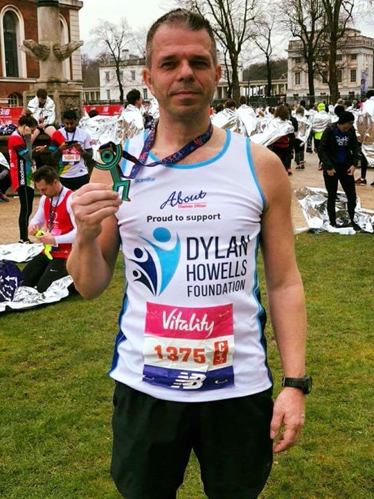Well done Malcolm Watts for completing the London Big Half in support of The Dyl…