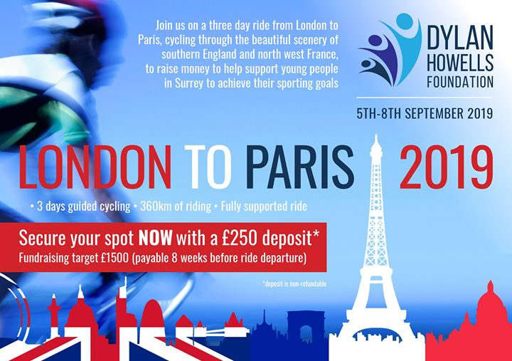 Announcing the DHF London To Paris Bike Ride!!  Join us in Sept 2019 on a three …